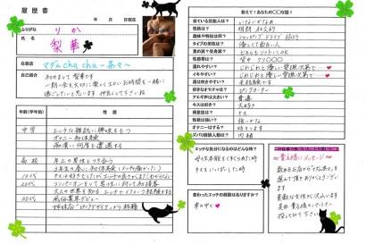 梨華【りか】熟女コースHな履歴書