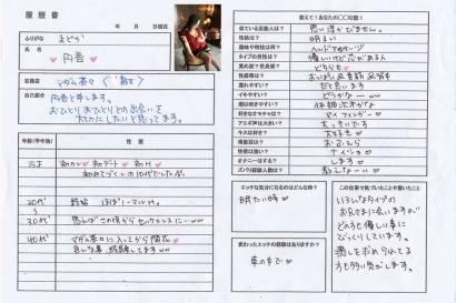 円香【まどか】熟女コースHな履歴書