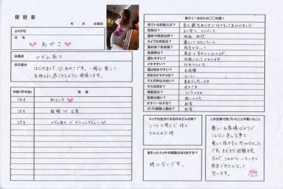 彩子【あやこ】マダムコースHな履歴書