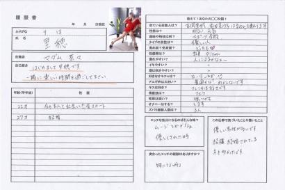 里穂【りほ】マダムコースHな履歴書