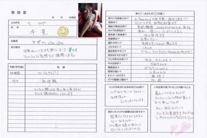 千景【ちかげ】熟女コースHな履歴書