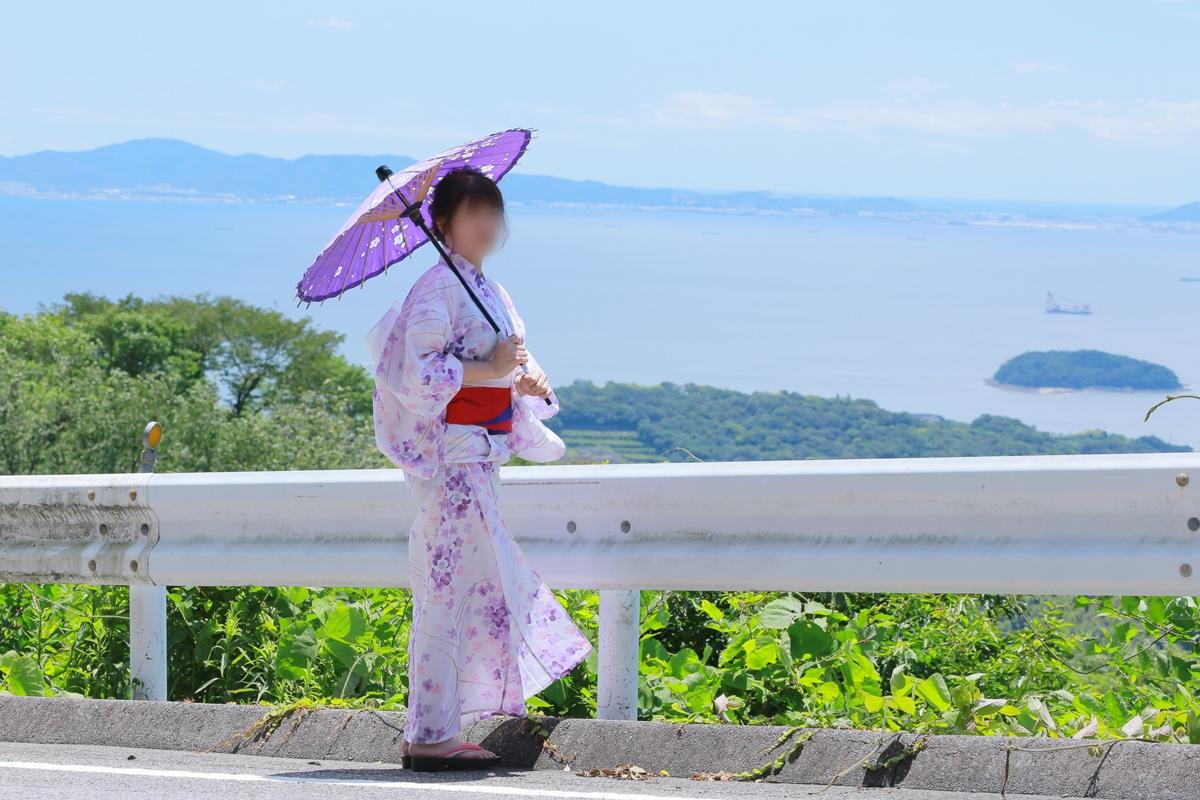 ☆彡美人浴衣妻と紫陽花祭り☆彡